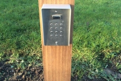 Key Pad on post