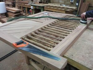 Sapele spindle gates west london security6