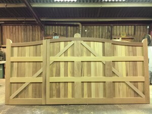 Serpentine-Iroko-gates-unequal-pair-Back