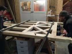 Clamping-up-Arts-and-Crafts-accoya-gates