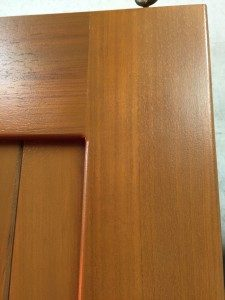 Stained Corner of a Iroko Gates